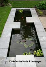 """After"" photo of pond installation in Minneapolis MN."
