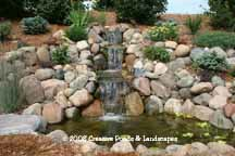 """after"" photo of pond & waterfall repair in Woodbury Mn."