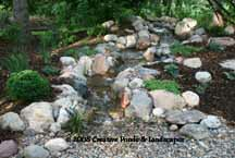 photo of pondless waterfall in St. Paul MN.