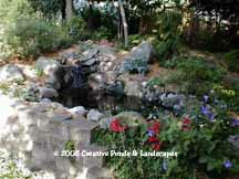 before photo of pond & waterfall installation in Burnsville, MN.