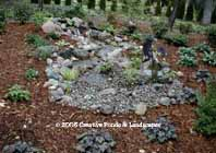 pondless waterfall in Minnetonka MN. photo, click to enter gallery