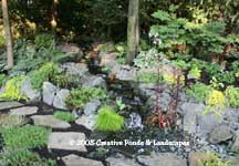 photo of pondless waterfall in North Oaks, MN.