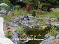 St. Paul MN. pond & waterfall installation photo