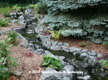 photo of pond & waterfall installation in Eden Prairie MN. click to enter gallery