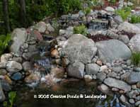photo of pond & waterfall in Maple Grove MN.