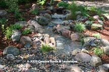 Pondless waterfall & landscape installation in Minneapolis, MN